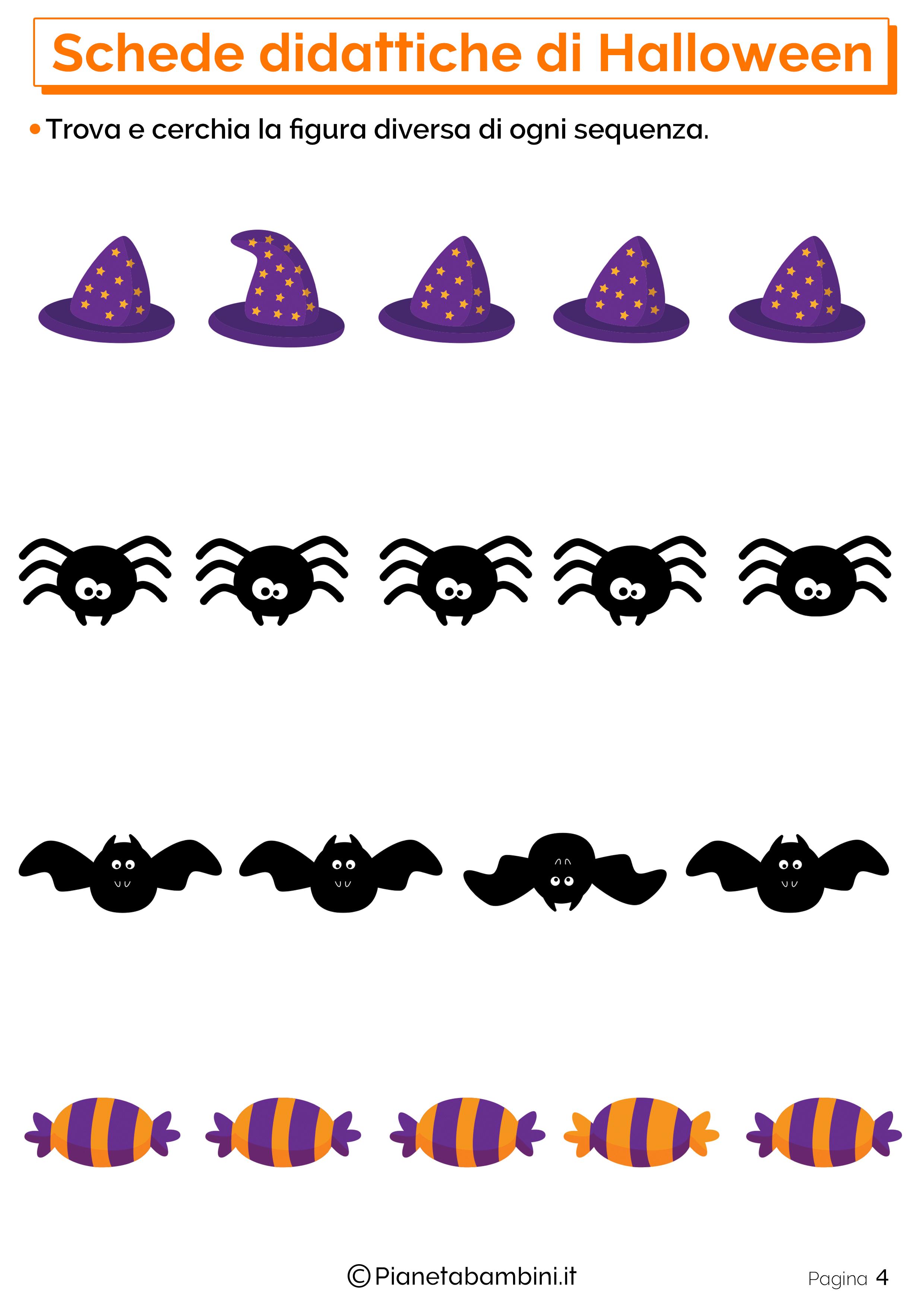 Esercizi di Halloween per la scuola dell'Infanzia 04