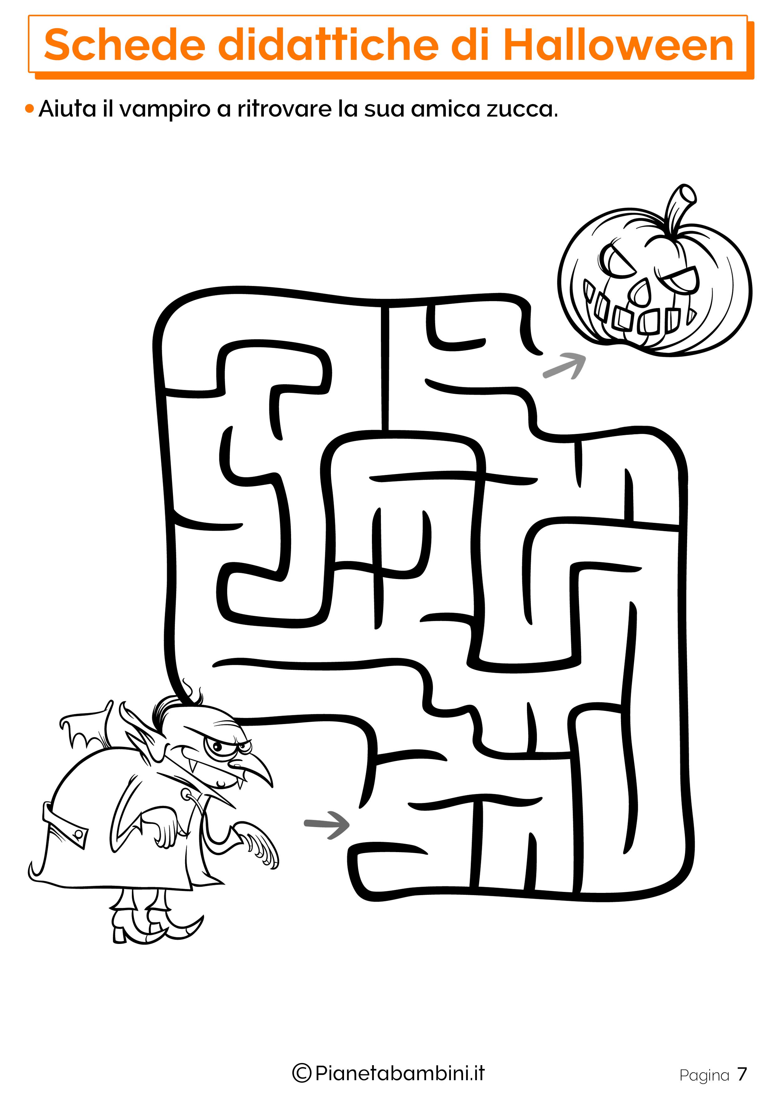 Esercizi di Halloween per la scuola dell'Infanzia 07