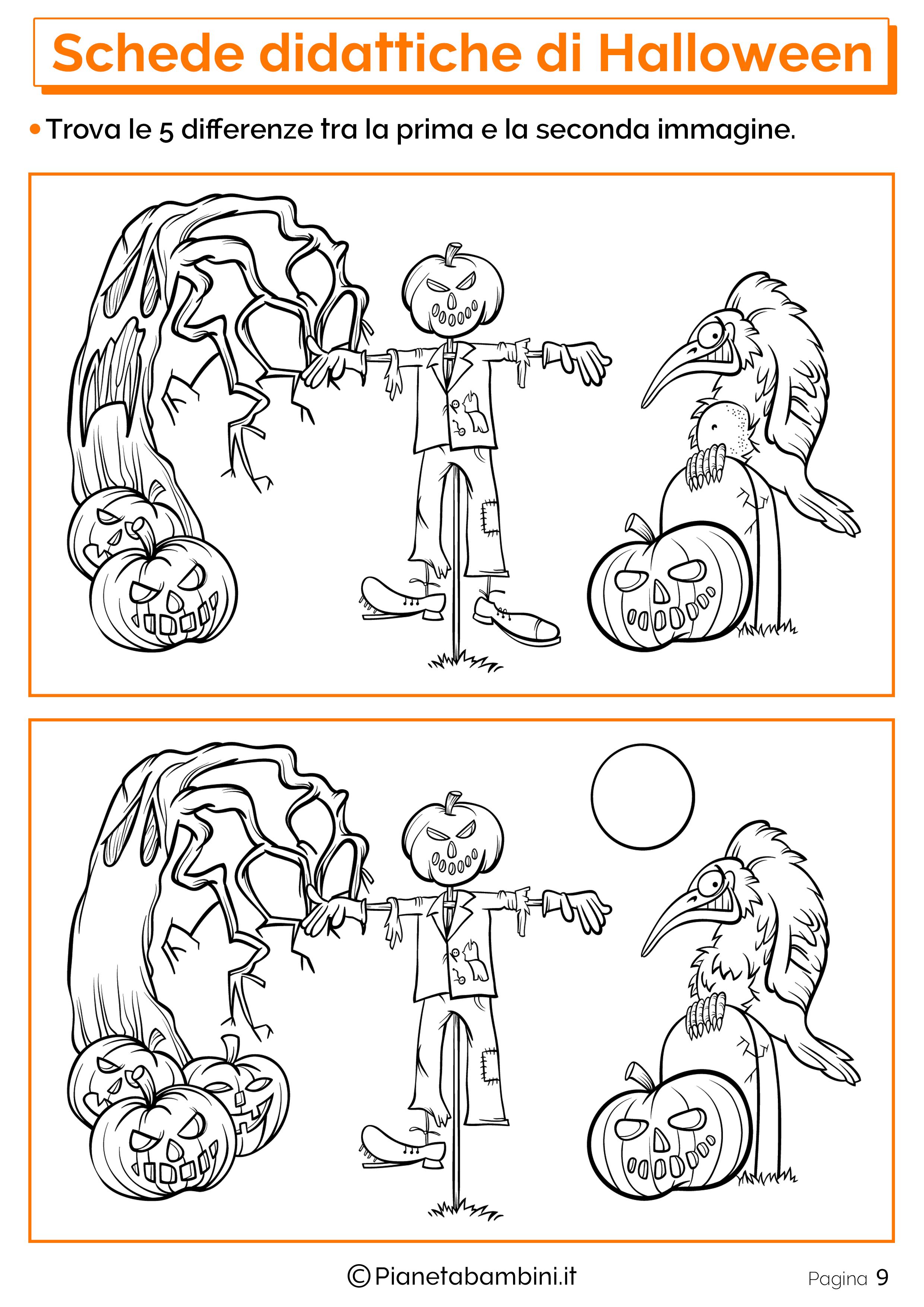 Esercizi di Halloween per la scuola dell'Infanzia 09