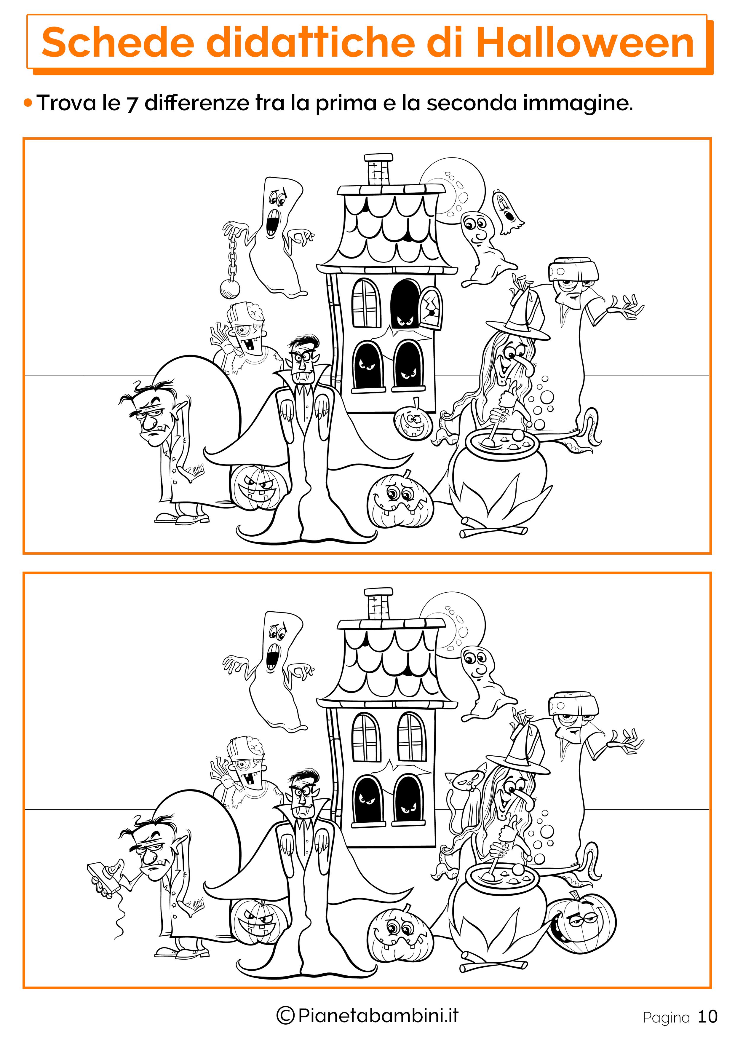 Esercizi di Halloween per la scuola dell'Infanzia 10