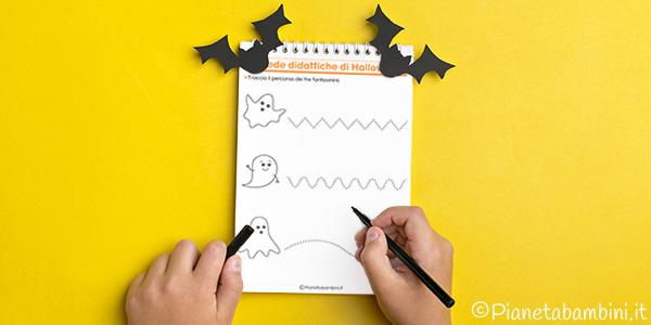 Schede didattiche di Halloween per la scuola dell'infanzia da stampare