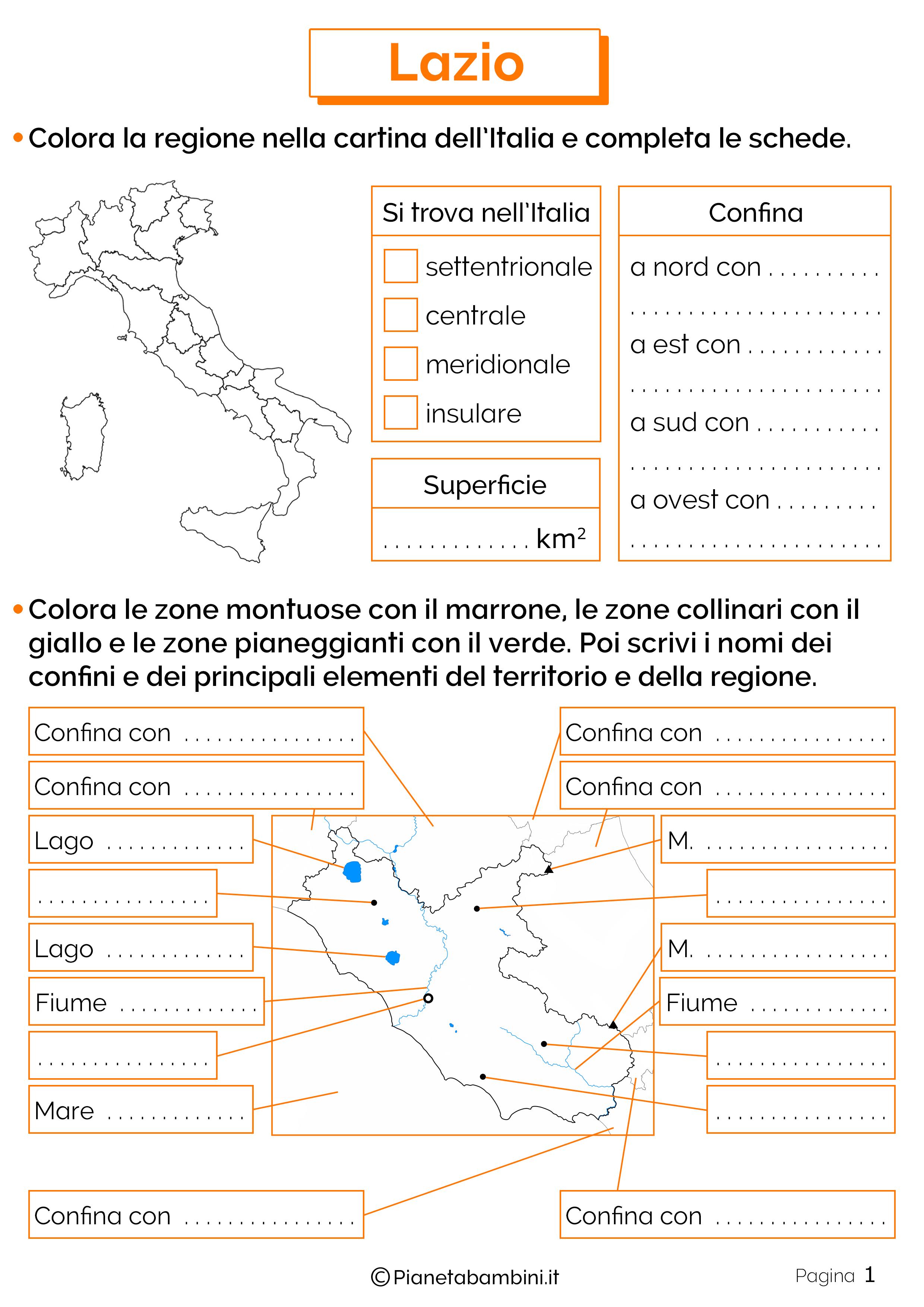 Esercizi sul Lazio 1