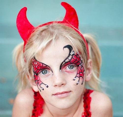 Trucco di Halloween da diavolo n.2