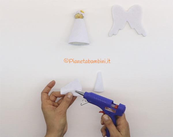Come creare le braccia dell'angioletto in feltro