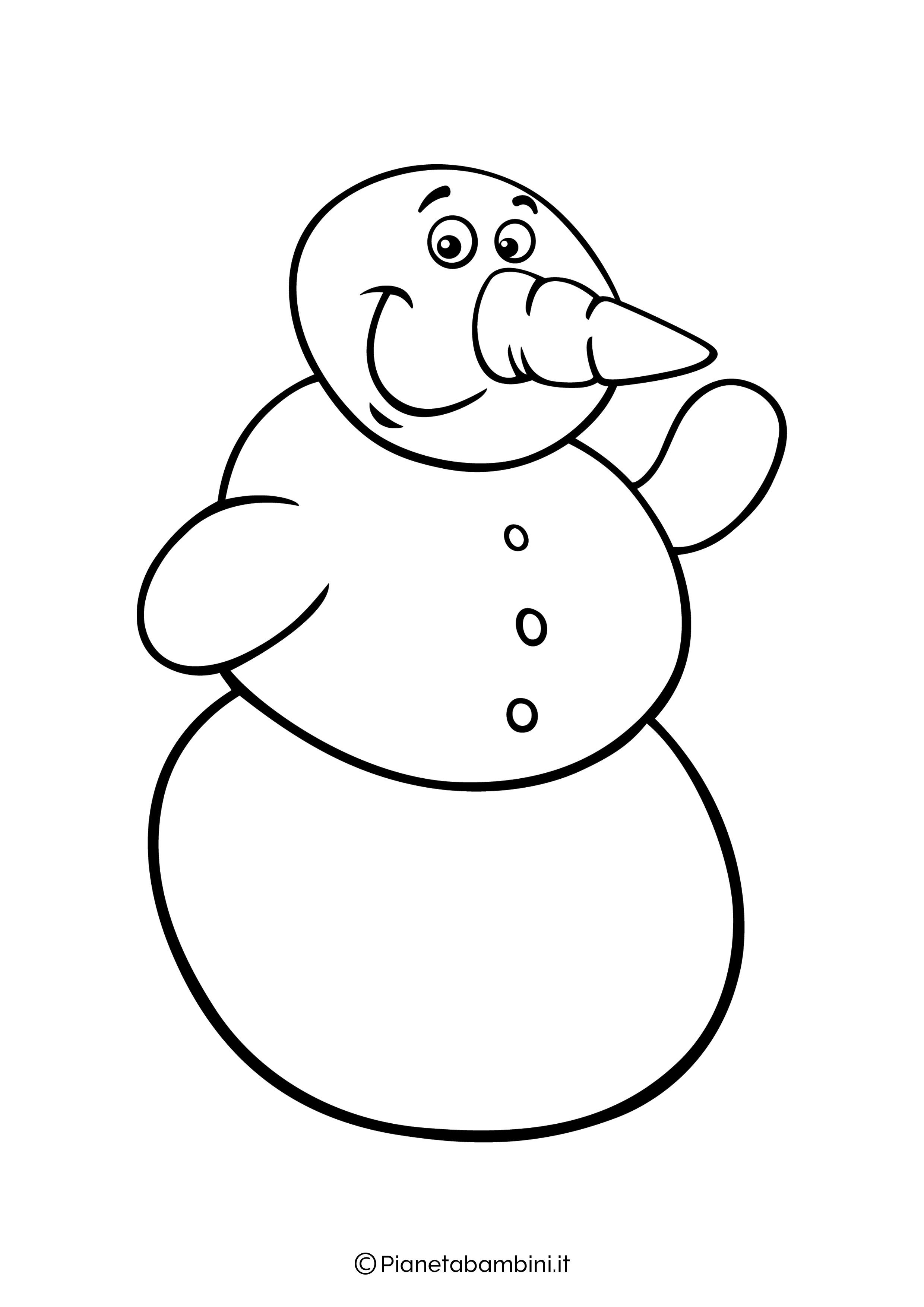 Disegno pupazzo di neve da colorare 09