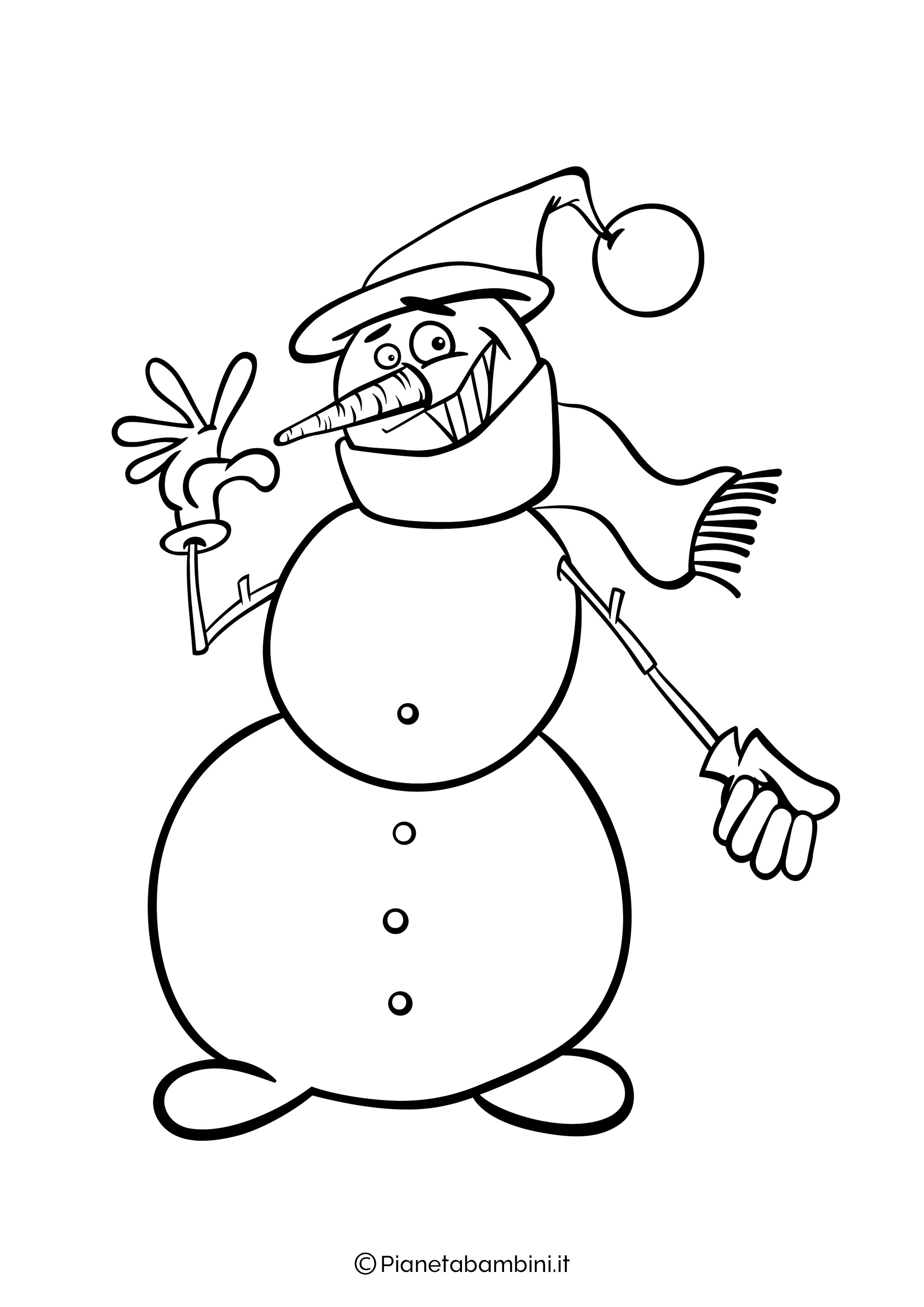 Disegno pupazzo di neve da colorare 10