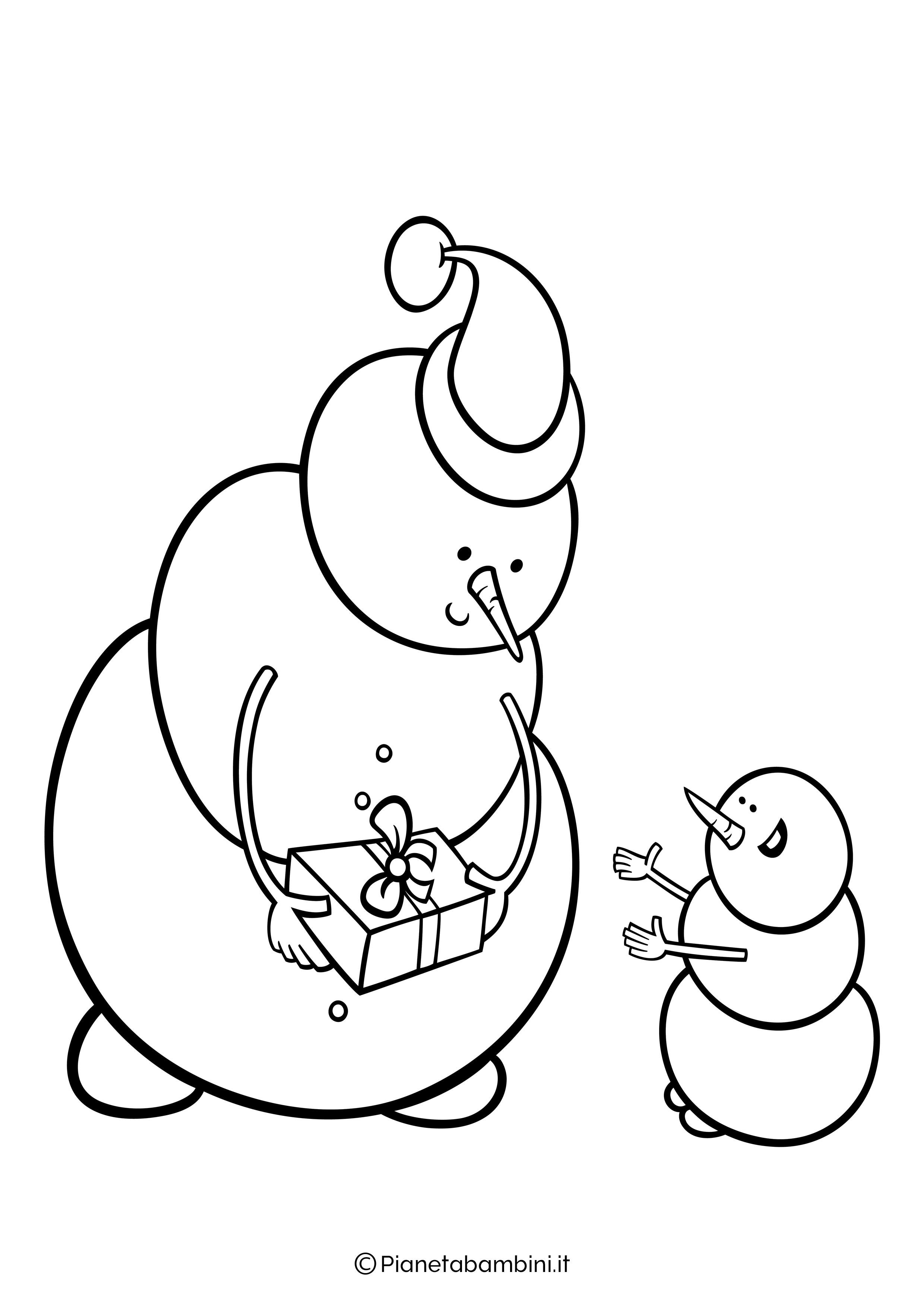 Disegno pupazzo di neve da colorare 12