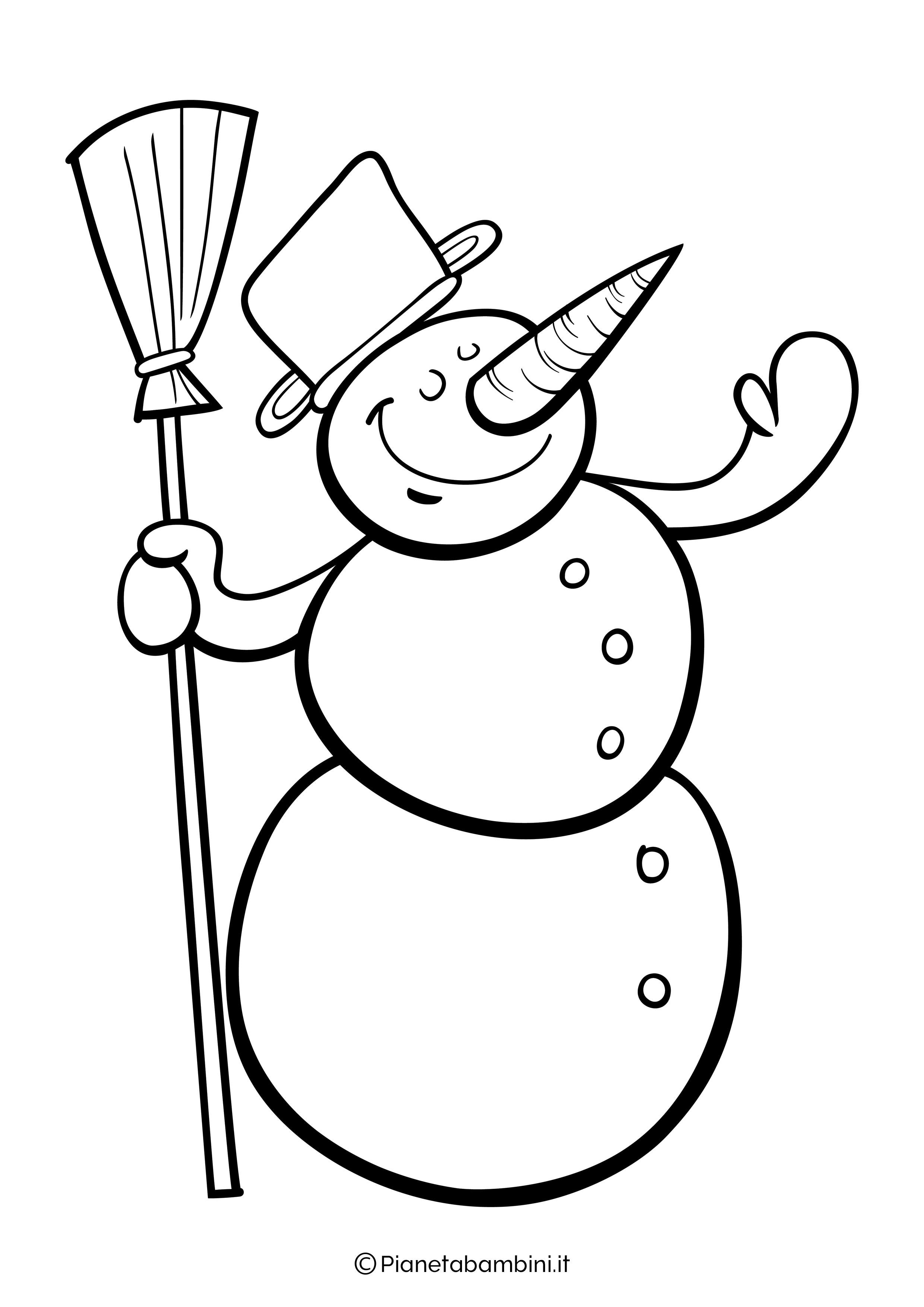Disegno pupazzo di neve da colorare 13