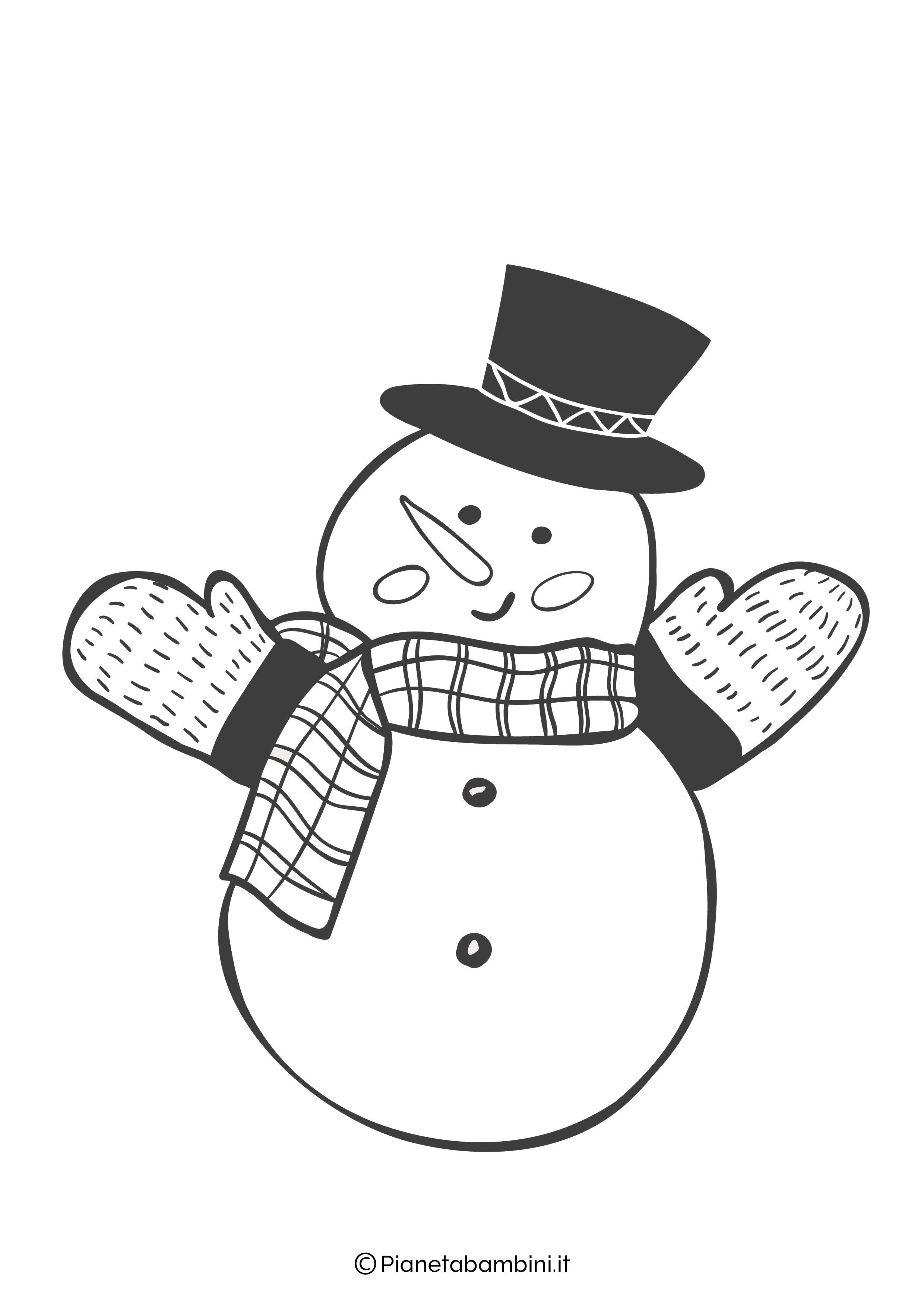 Disegno pupazzo di neve da colorare 15
