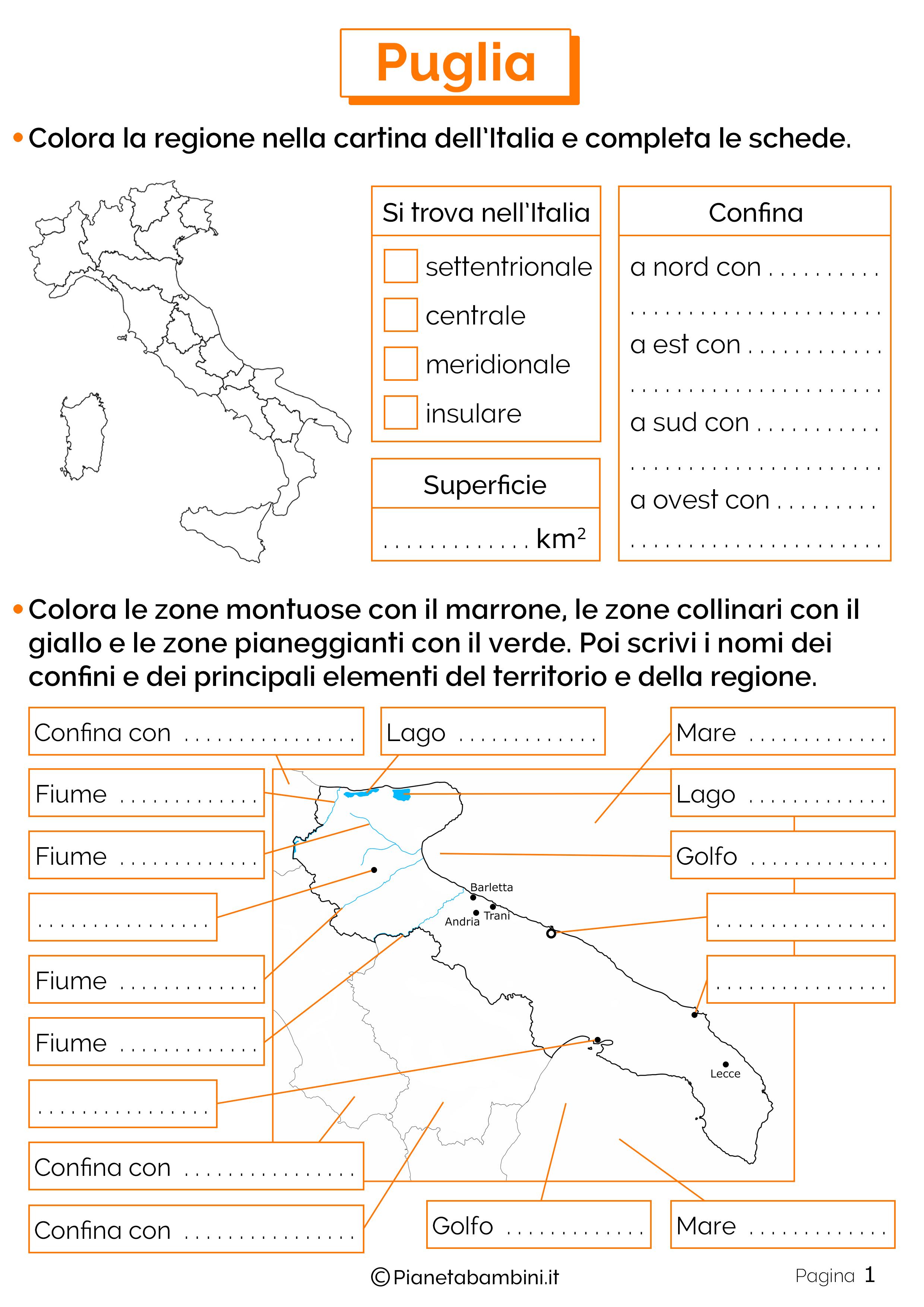 Esercizi sulla Puglia 1