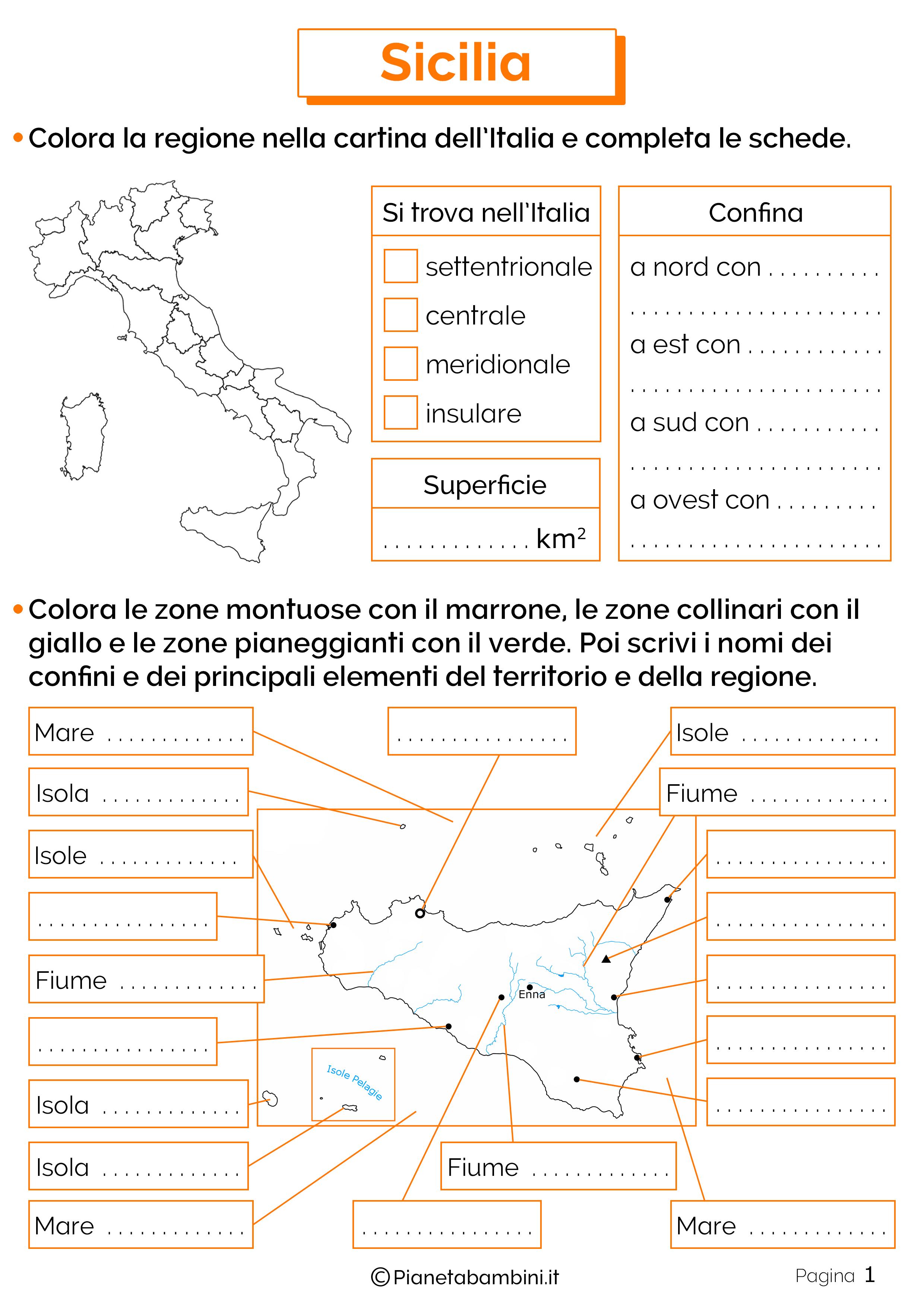 Esercizi sulla Sicilia 1