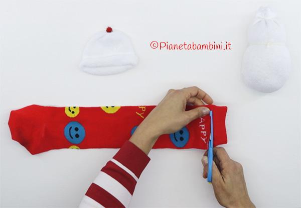 Come creare la sciarpa per il pupazzo di neve