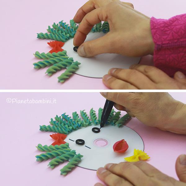 Come creare gli occhi del pagliaccio con pasta alimentare