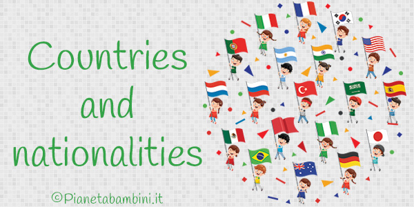 Esercizi su paesi e nazionalità in inglese per la scuola primaria