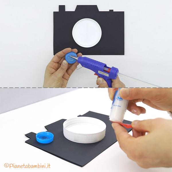 Come creare flash e obiettivo del portafoto in Cartoncino per la Festa del Papà