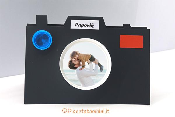 Lavoretto per la festa del papà il portafoto di cartoncino