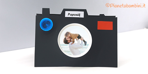 Portafoto di cartoncino per la festa del papà