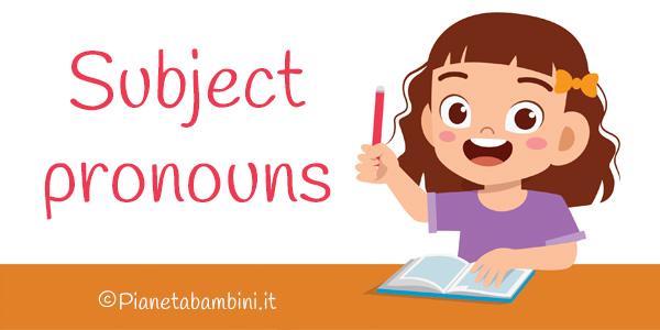 Esercizi sui pronomi personali in inglese per la scuola primaria