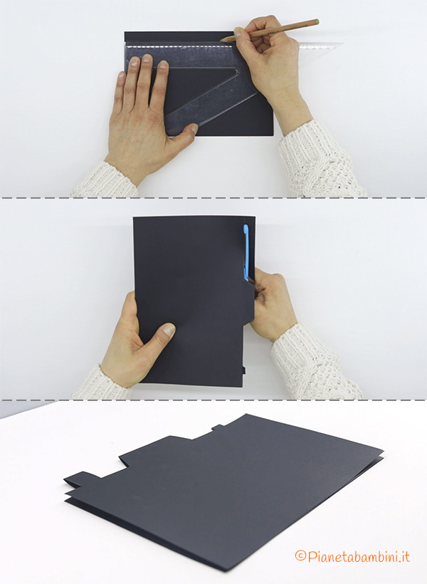 Come ritagliare il portafoto in Cartoncino per la Festa del Papà