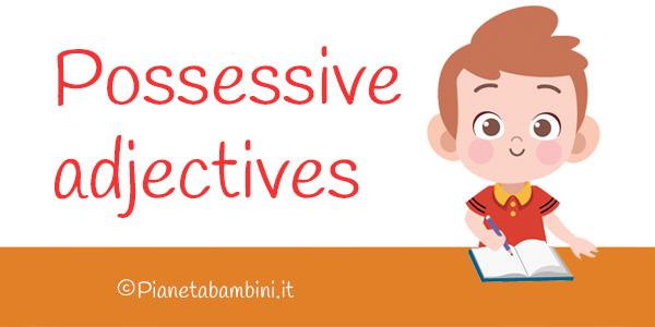 Esercizi sugli aggettivi possessivi in inglese per la scuola primaria