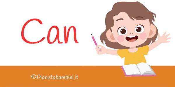 Esercizi sul verbo inglese Can per la scuola primaria