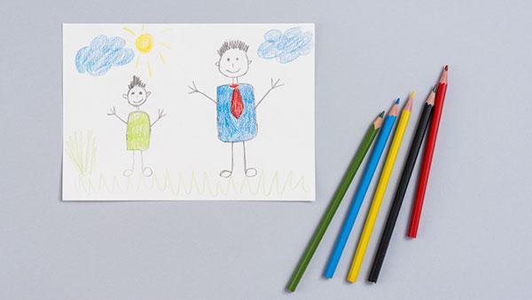 Disegni sulla festa del papà da stampare e colorare