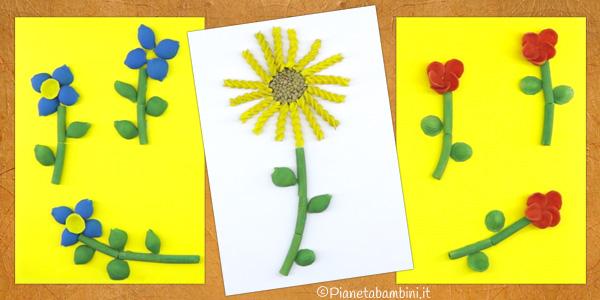 Come creare dei fiori con pasta cruda
