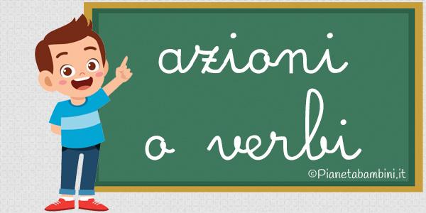 Esercizi su azioni o verbi per la scuola primaria