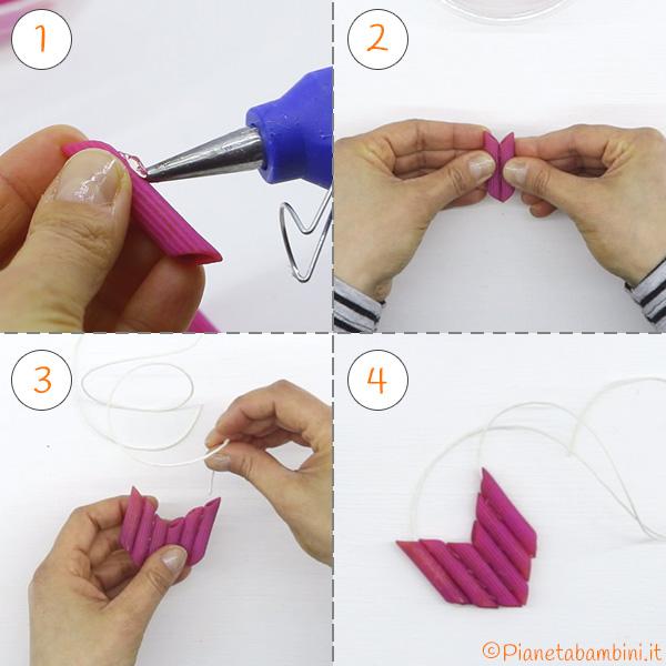 Collana di pasta secca con le penne
