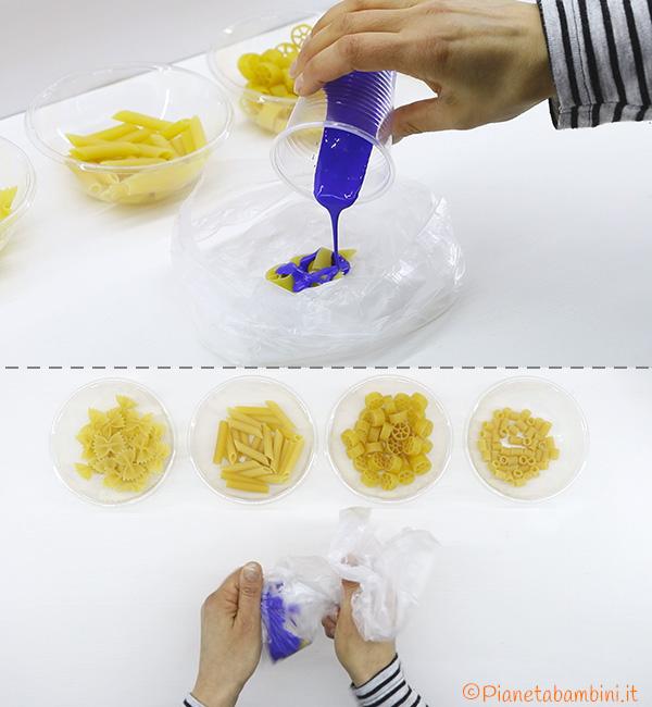 Come colorare la pasta secca