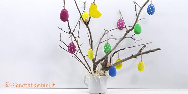 Albero di Pasqua con decorazioni in pasta di sale