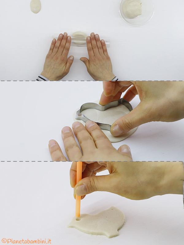 Creazione del pulcino con la pasta di sale