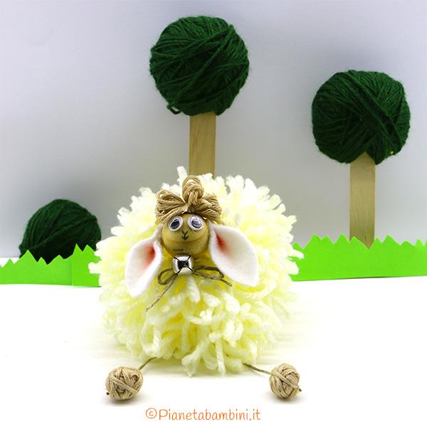 Immagine pecorella pon pon