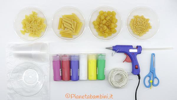 Occorrente per creare le collane di pasta secca