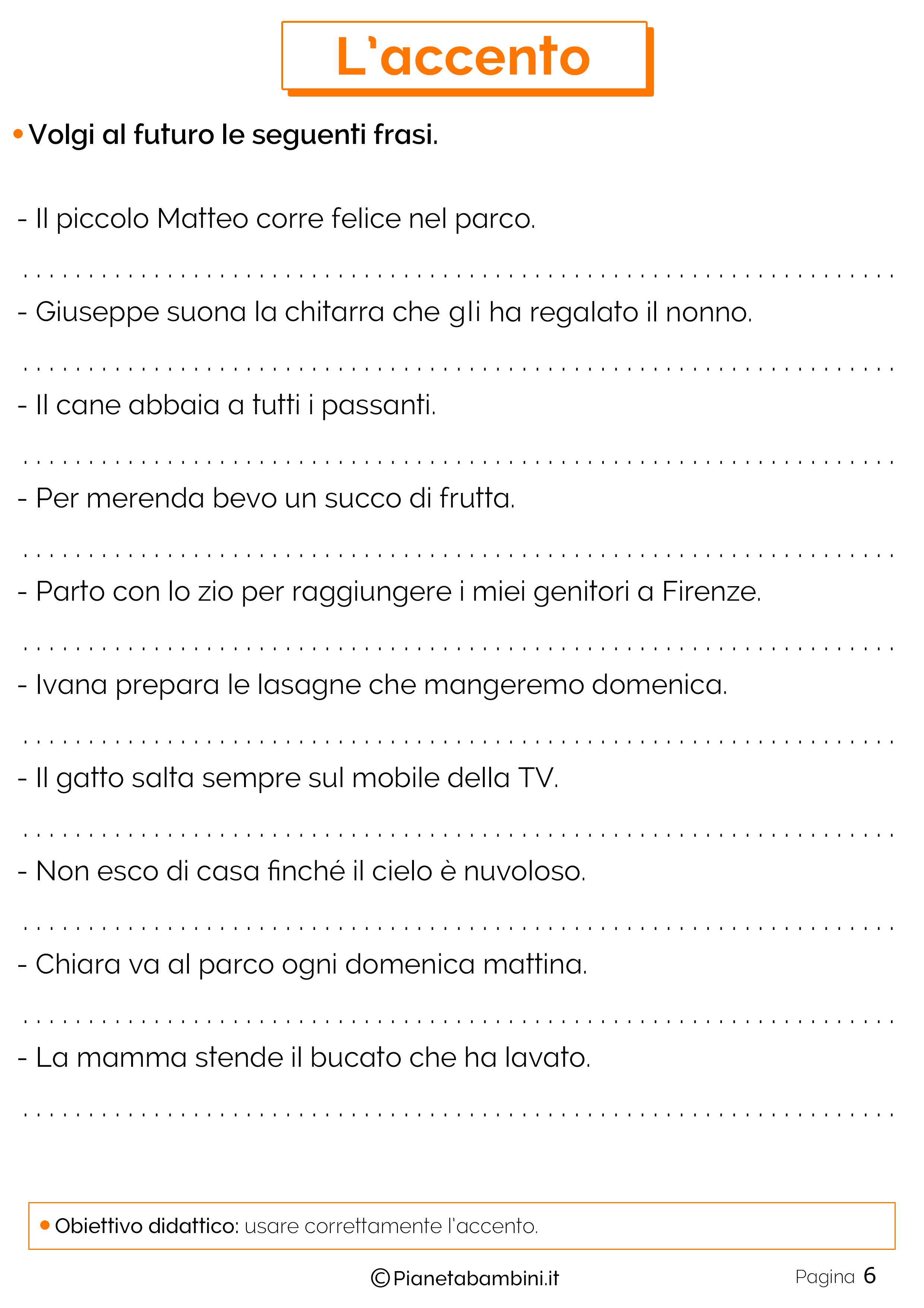Esercizi sull'accento 6