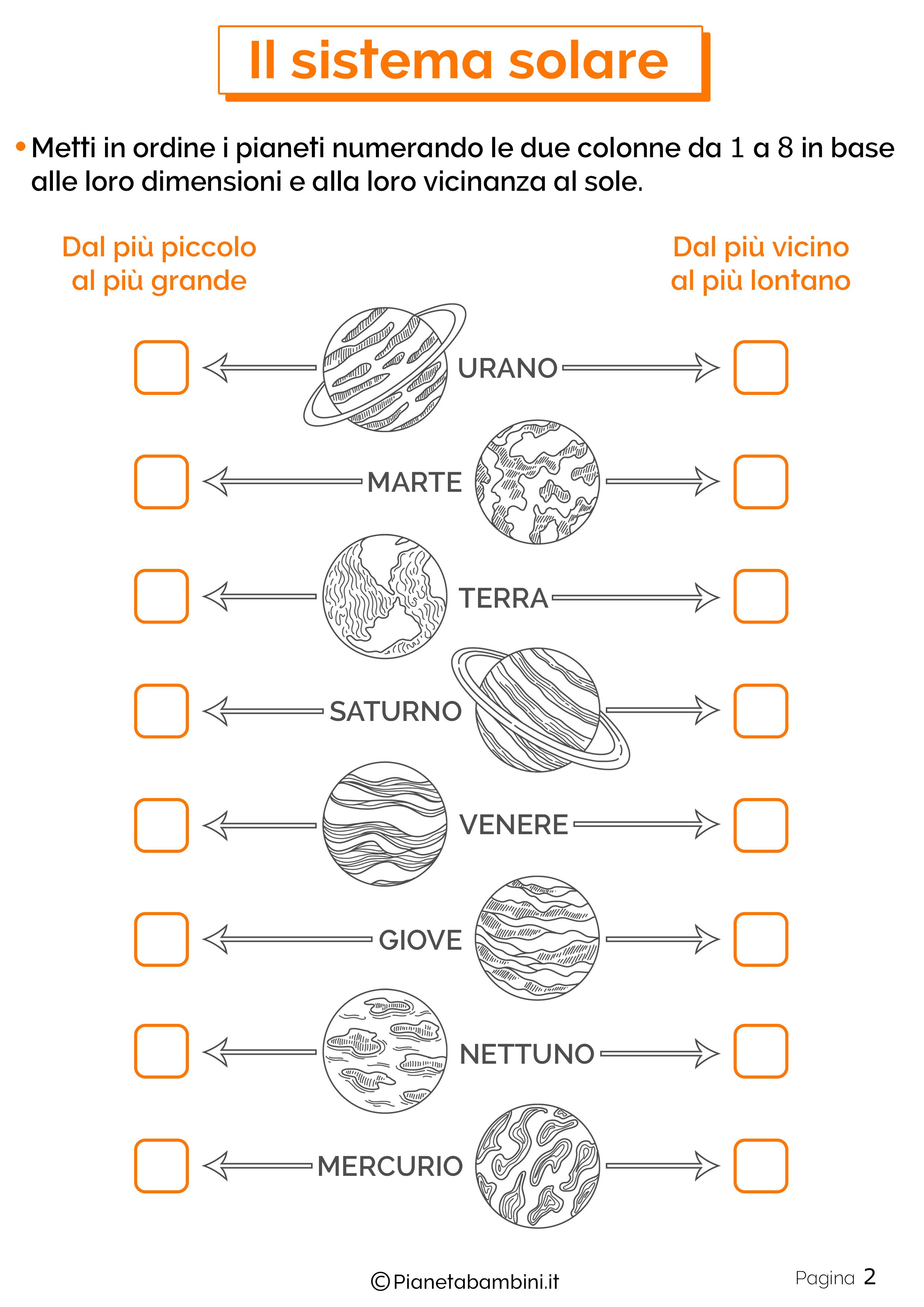 Esercizi sul sistema solare 2