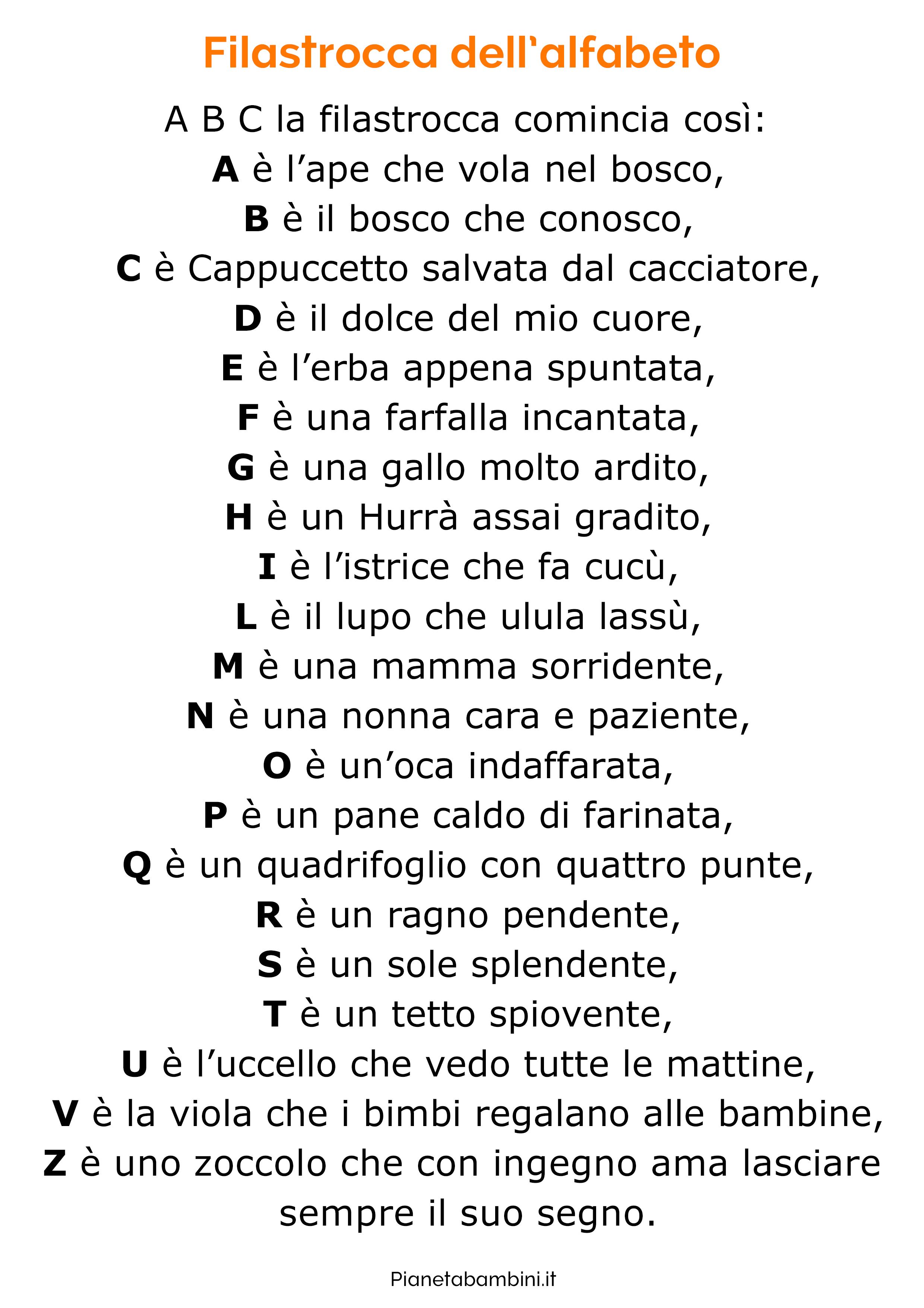 Filastrocca sull'alfabeto 5