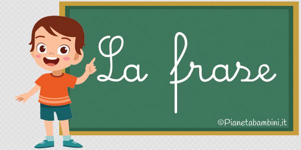 Esercizi sulla frase e i sintagmi per la scuola primaria