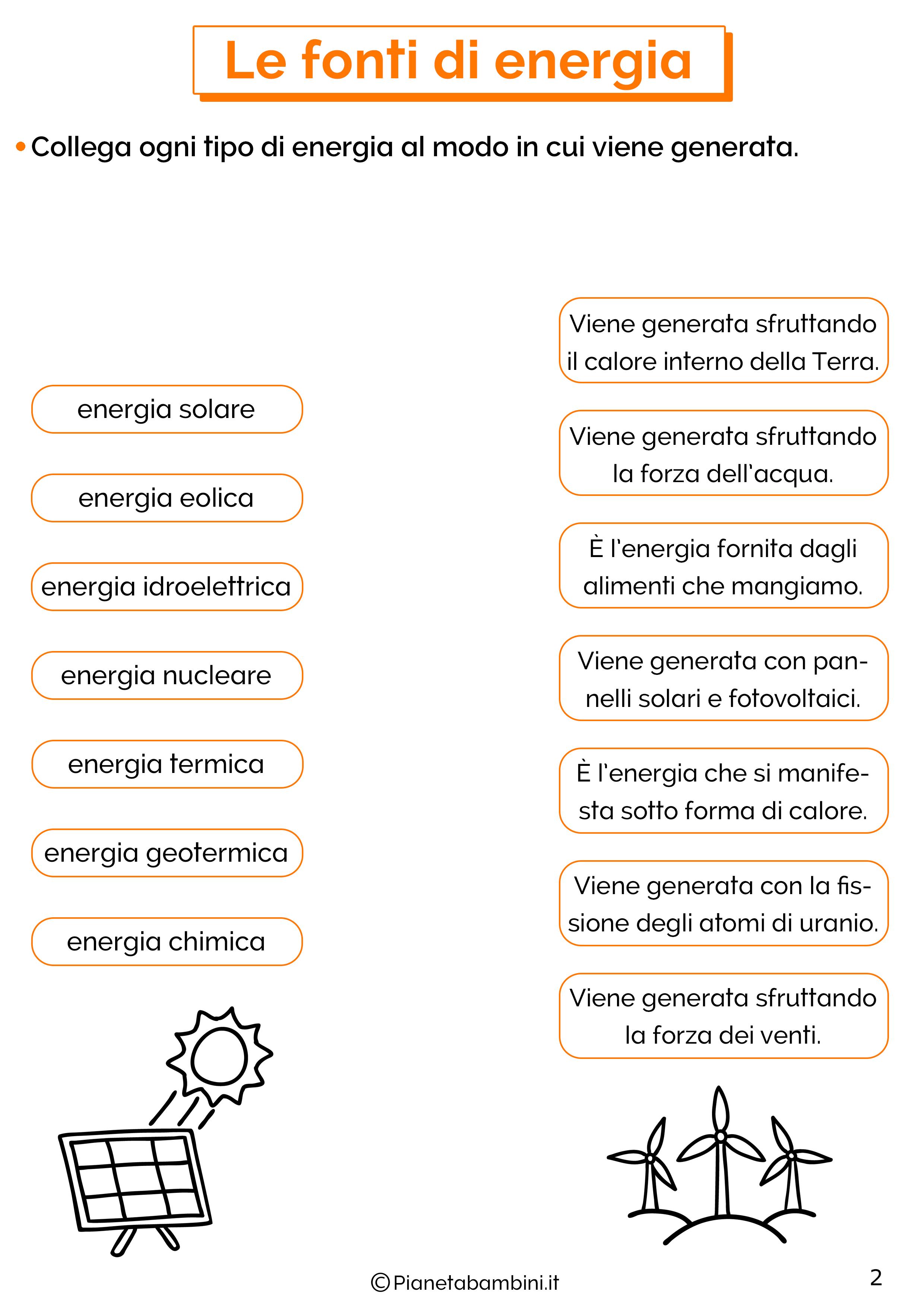 Esercizi sulle fonti di energia 2
