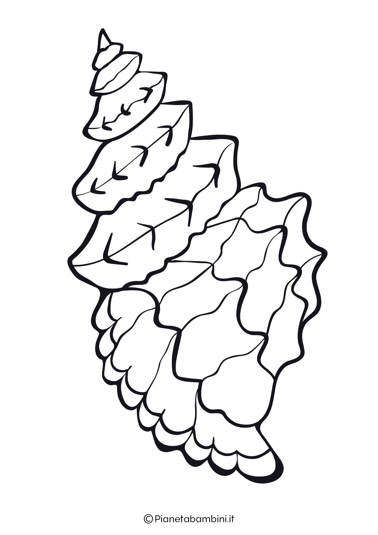 Disegni di conchiglie da colorare 05