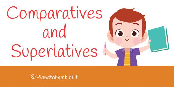 Schede didattiche sui superlativi e comparativi in inglese per la scuola primaria