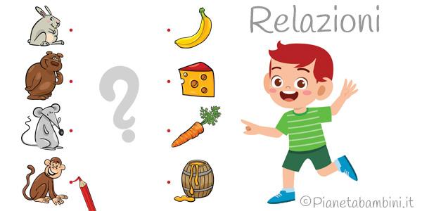 Esercizi sulle relazioni per la scuola dell'infanzia e primaria