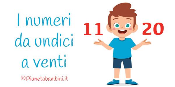 Esercizi sui numeri da 11 a 20 per la scuola primaria