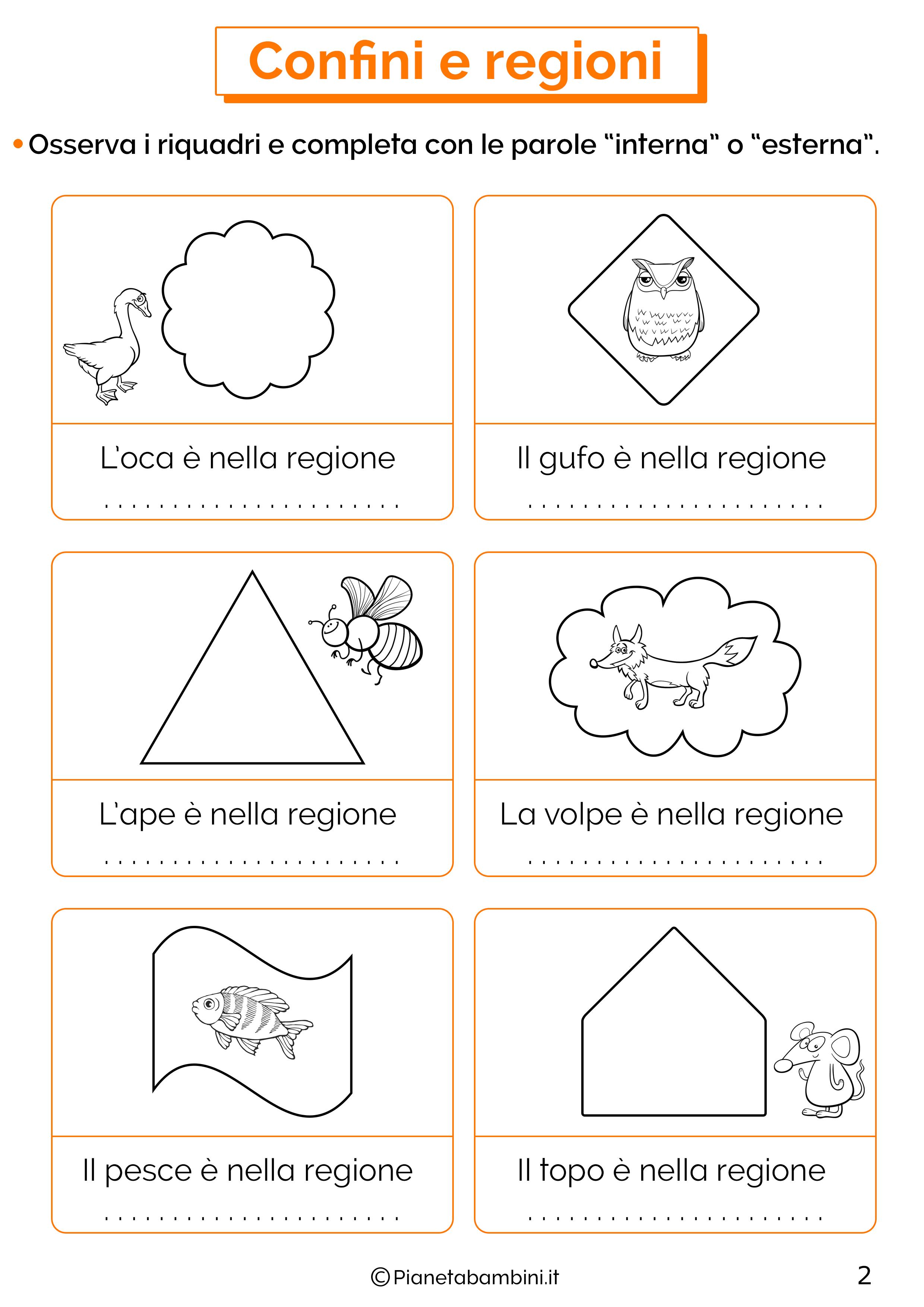 Esercizi su confini e regioni 2