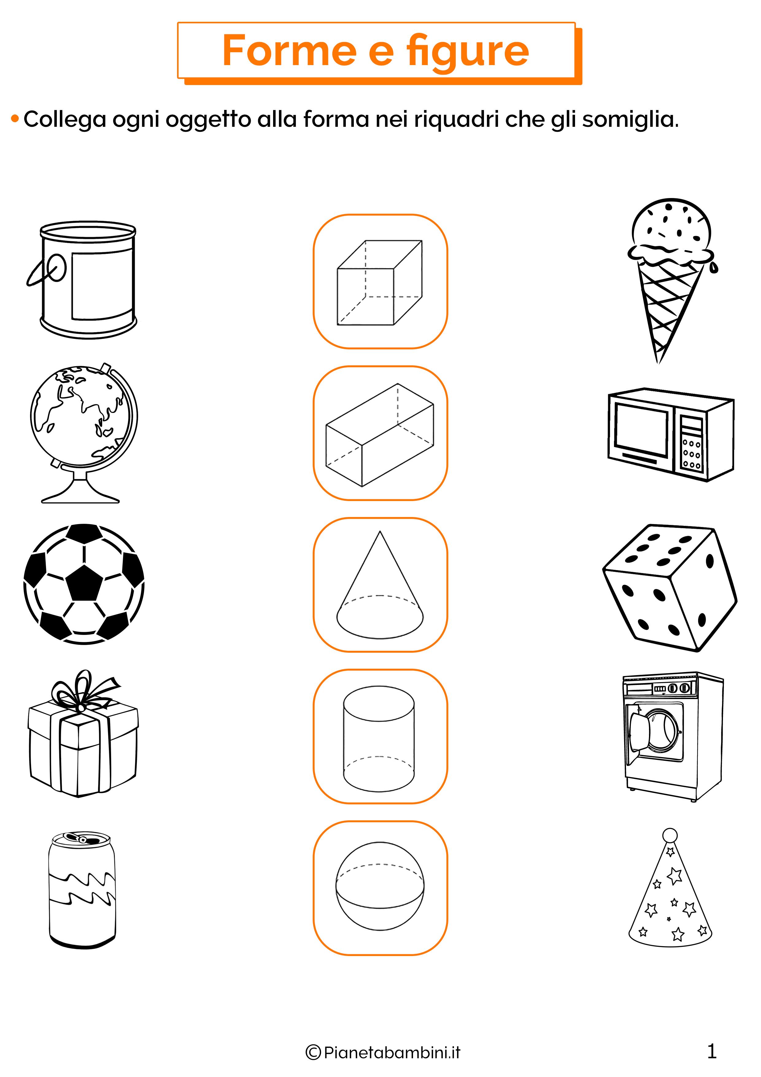 Esercizi su forme e figure 1