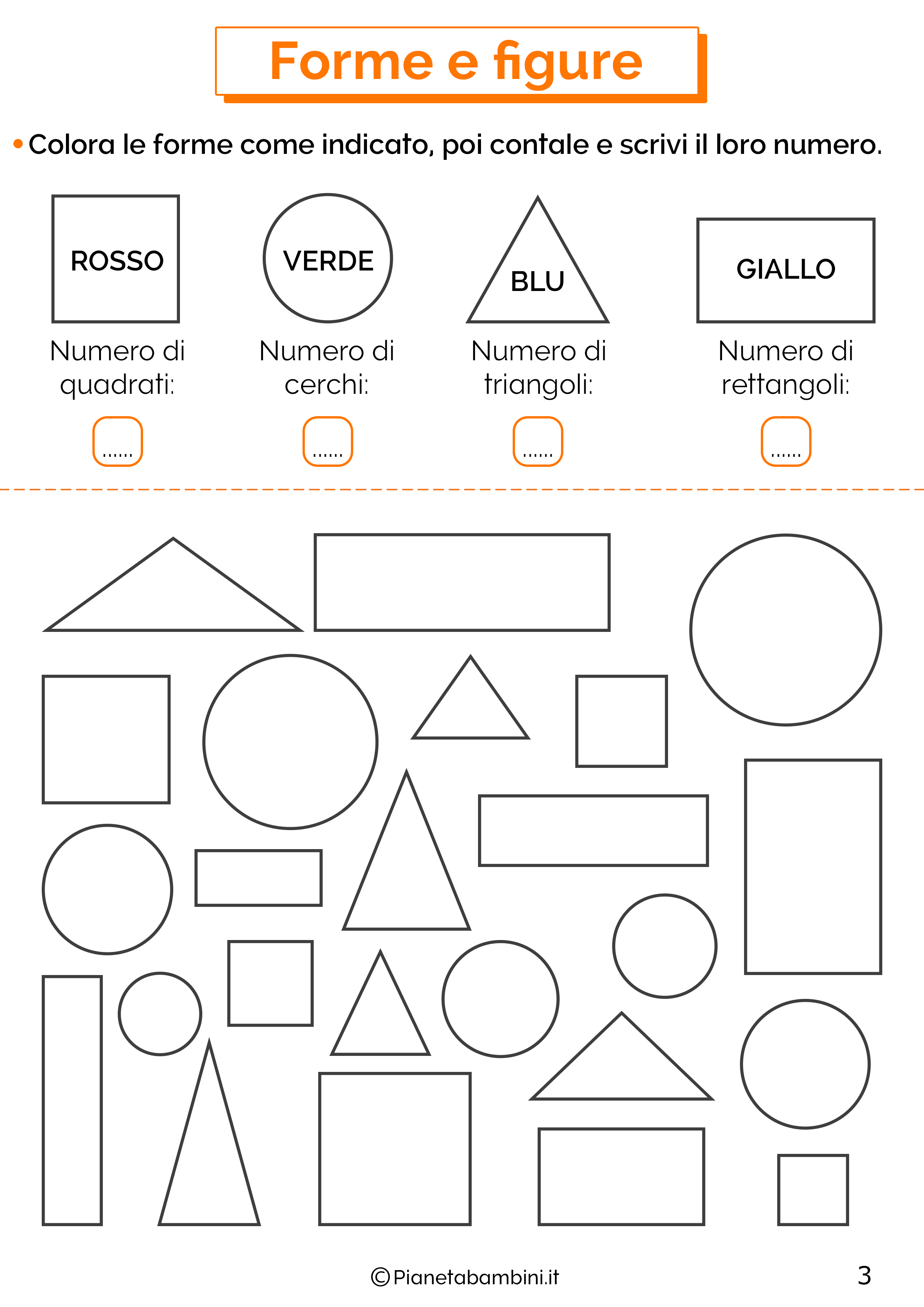 Esercizi su forme e figure 3