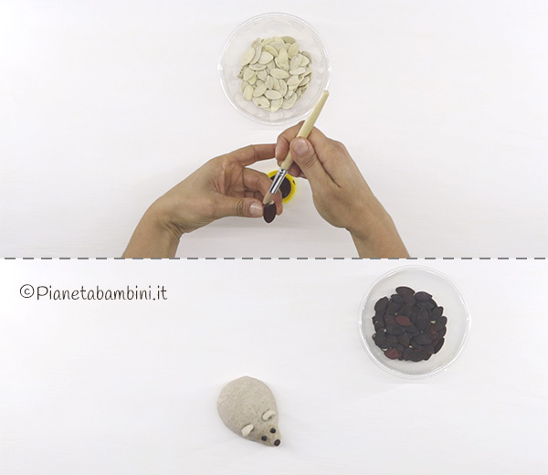 Come colorare i semi di zucca per creare gli aculei del ricco