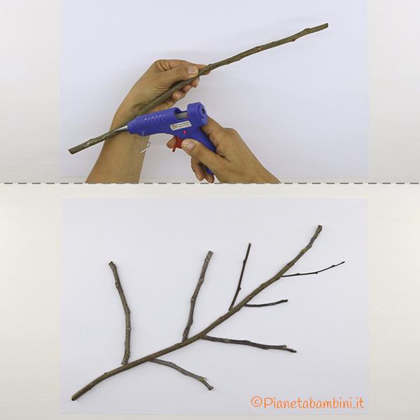 Come costruire l'albero autunnale con rametti