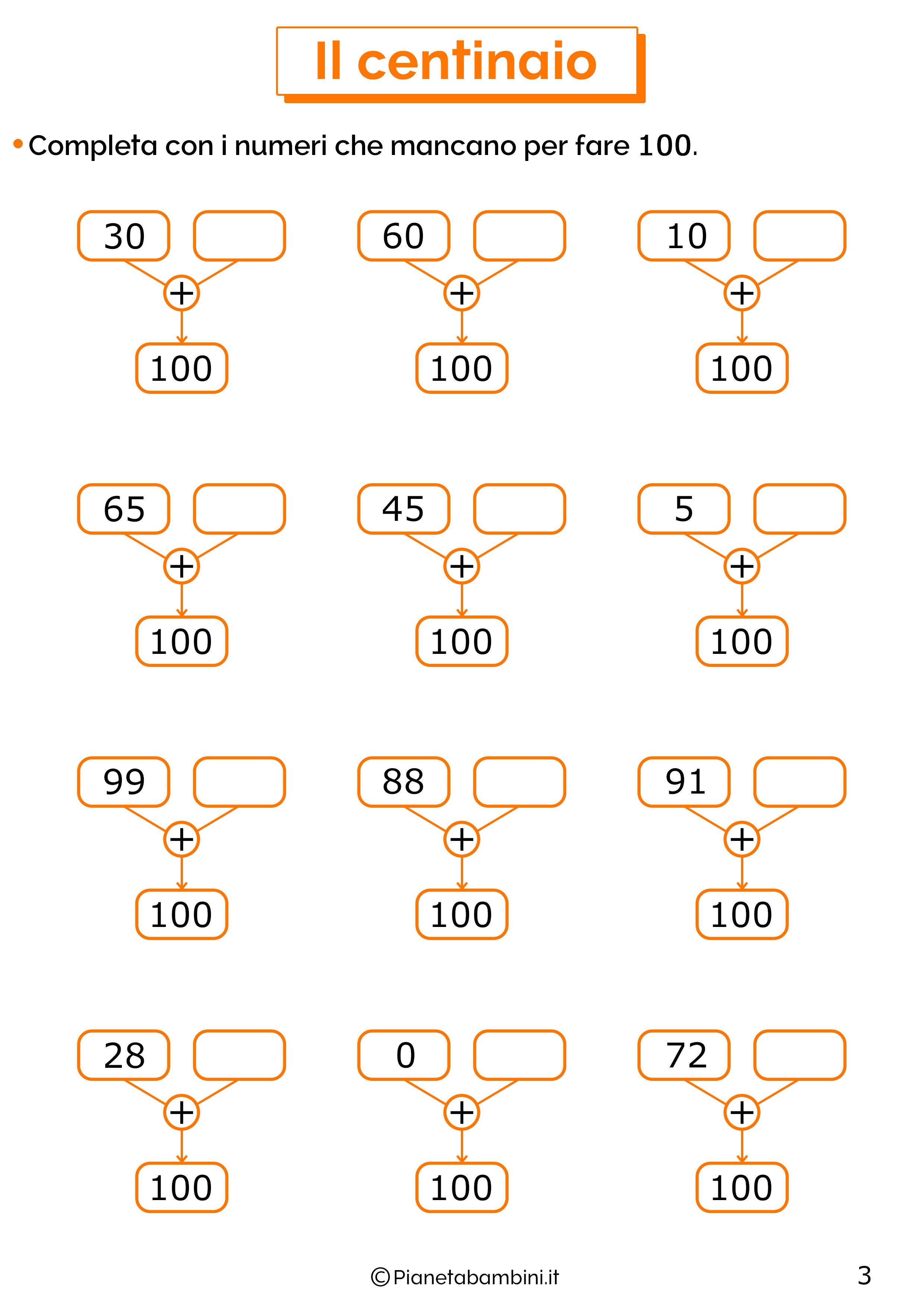 Esercizi sul centinaio 3