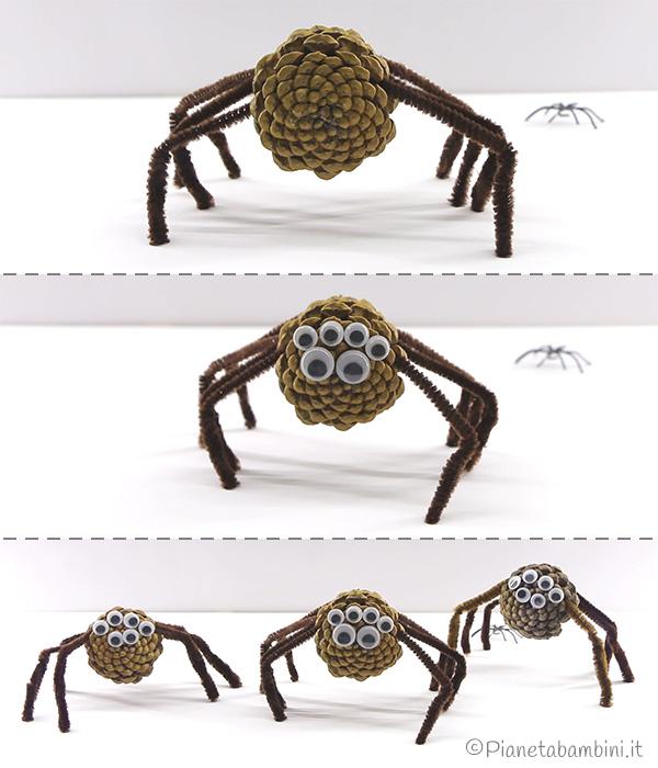 Come applicare gli occhi finti ai ragni di Halloween